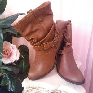 New Faux Leather Western Boots